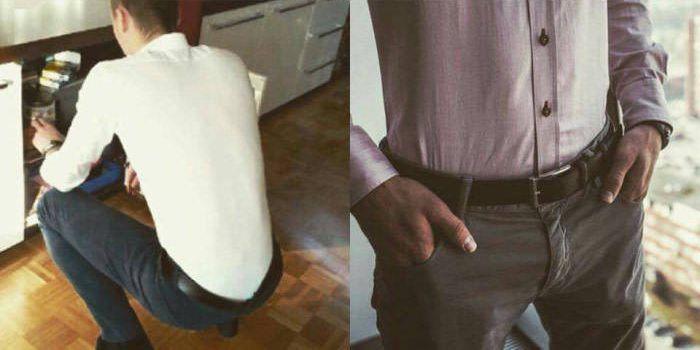 A Designer Invented A Garter Belt For Men's Dress Shirts (3 pics)