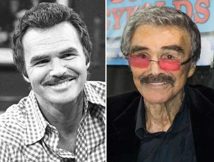 Aging Celebrities Side By Side With Their Younger Selves (60 pics)