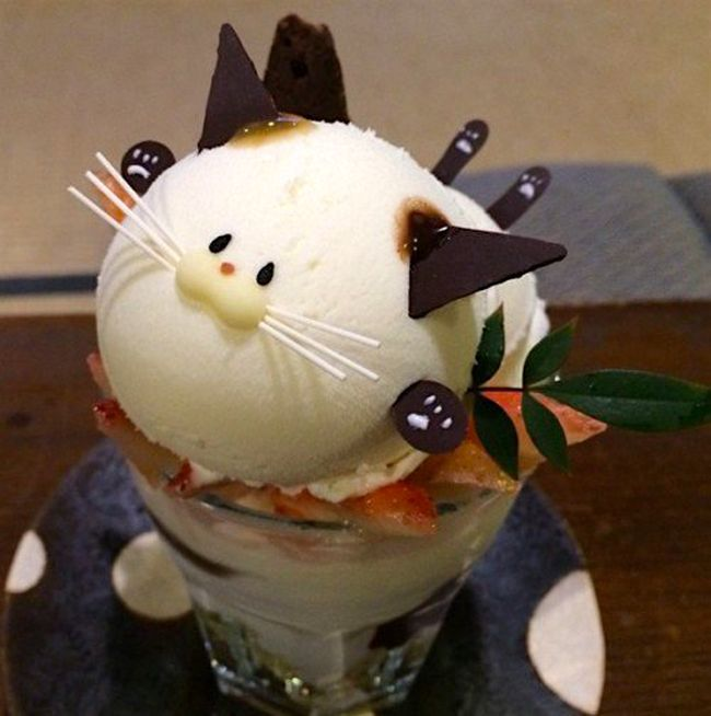 These Japanese Cat Parfaits Are A Delicious And Adorable Snack (8 pics)