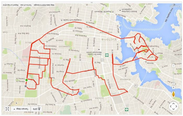 Guy On Bike Creates Giant Doodles Using His GPS App (9 pics)