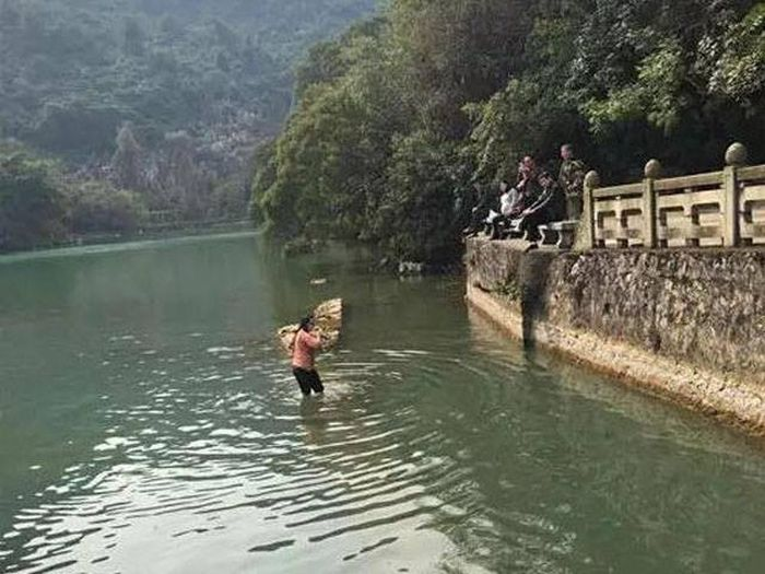 This Woman Dove Into A Freezing Cold Lake To Get Her iPhone Back (4 pics)