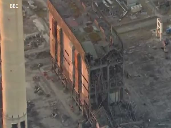 Aerial Footage From BBC Shows Damage To Didcot Power Plant After Collapse