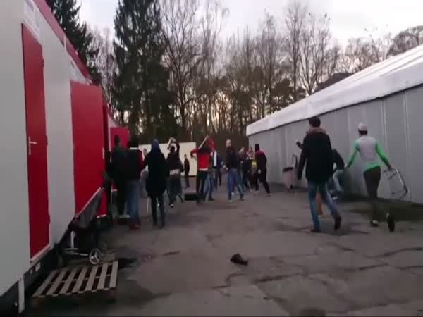 Riot Breaks Out In A Refugee Camp