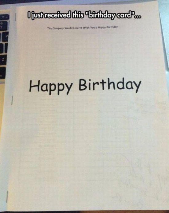 This Birthday Card Is Funny But Cold (2 pics)