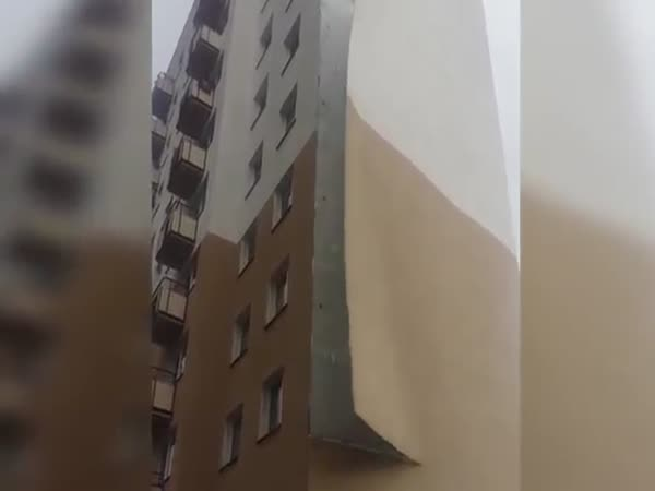 Strong Winds Rip Facade