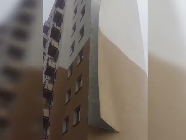 Strong Winds Rip Facade