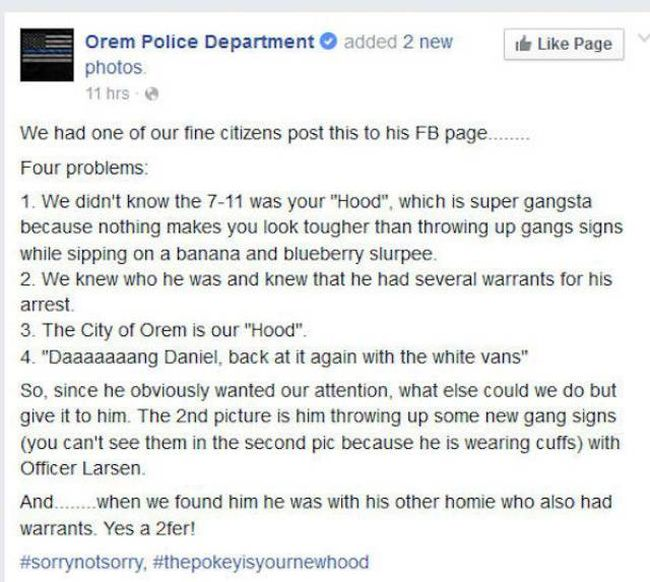 Wannabe Gangsta Gets Owned By The Police (5 pics)