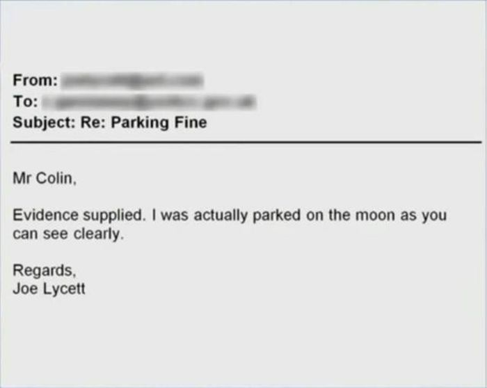 Man Finds An Awesome Way To Contest A Parking Fine (8 pics)