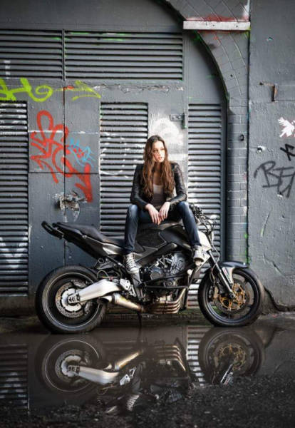 Beautiful Girls And Bad Ass Bikes Make For A Hot -7039