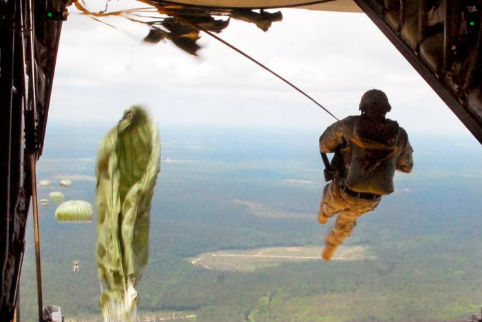 US Marines Jump Out Of A Plane And Into Action (19 pics)
