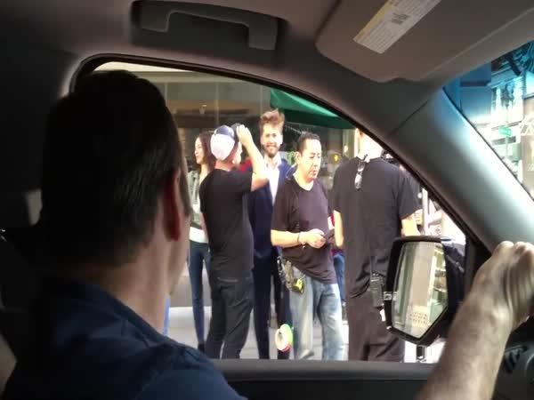 Kevin Spacey Rolls Up On Guys Filming