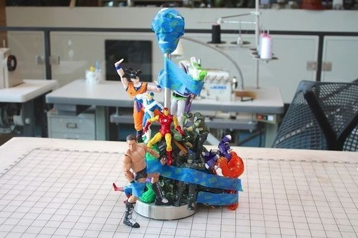 Person Finds Awesome Use For Their Old Toys (9 pics)