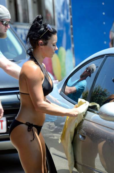 Nobody Washes Cars Better Than Soaking Wet Babes In Bikinis (55 pics)