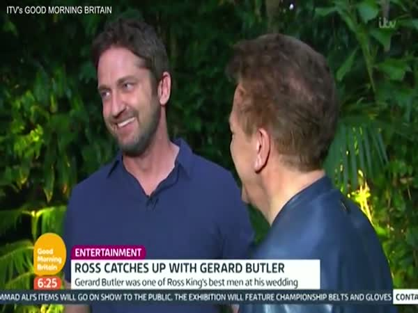Gerard Butler Punches Ross King