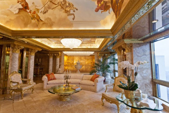 The Inside Of Donald Trump's Apartment Is A Very Strange Place (18 pics)