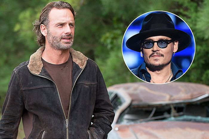 Johnny Depp's Head Made A Surprise Cameo On The Walking Dead Sunday Night (2 pics)