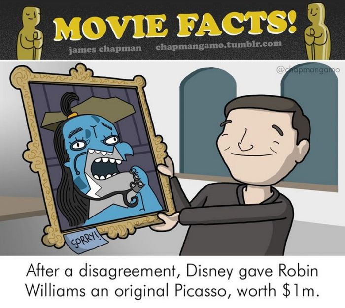 Awesome Illustrations Reveal Surprising Behind The Scenes Movie Facts (11 pics)