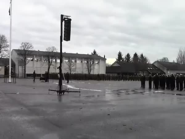 Passing Out Ceremony Norwegian Navy Flash Mob Uptown Funk