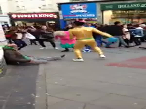 Little Old Ladys Dancing On The Streets Of Brighton Spreading Joy