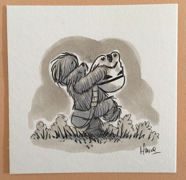 Winnie The Pooh Looks Awesome In The Style Of Star Wars (14 pics)