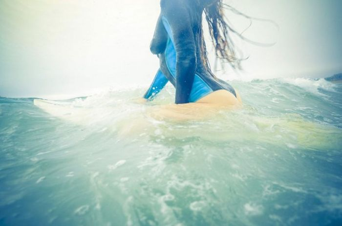 These Sexy Surfer Girls Aren't Wearing Wetsuits, They're Wearing Body Paint (25 pics)