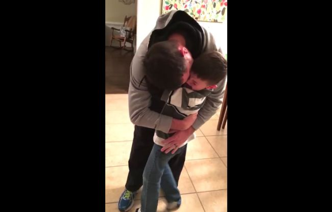 Navy Dad Gives His Son The Most Wonderful Surprise