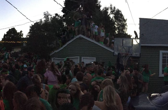 Garage Collapses Due To Too Many People Partying On The Roof (4 pics + video)