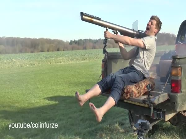 Hilarious Video Shows Inventor Taking Off His Socks With A Shoulder Mounted Rocket Launcher