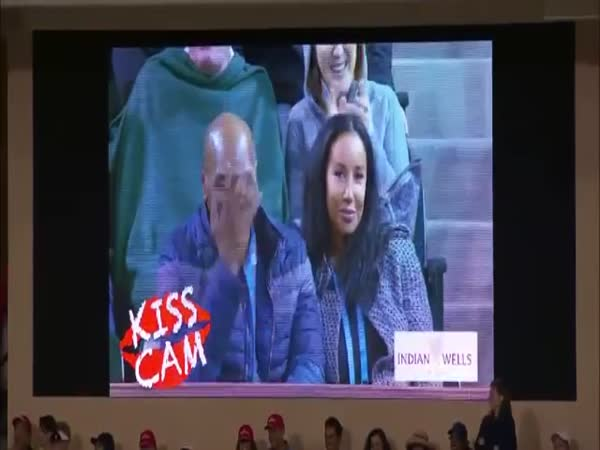 Mike Tyson Caught On Kiss Cam
