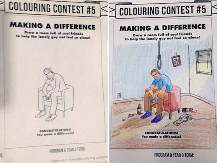 What It Looks Like When Coloring Book Pages Get Completely Corrupted (24 pics)