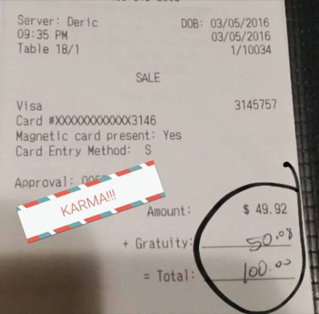 There's An Amazing Story Behind This Server's Tip (3 pics)