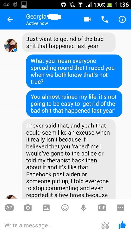 Guy Finally Gets Lying Girl To Admit That She Falsely Accused Him Of Rape (10 pics)