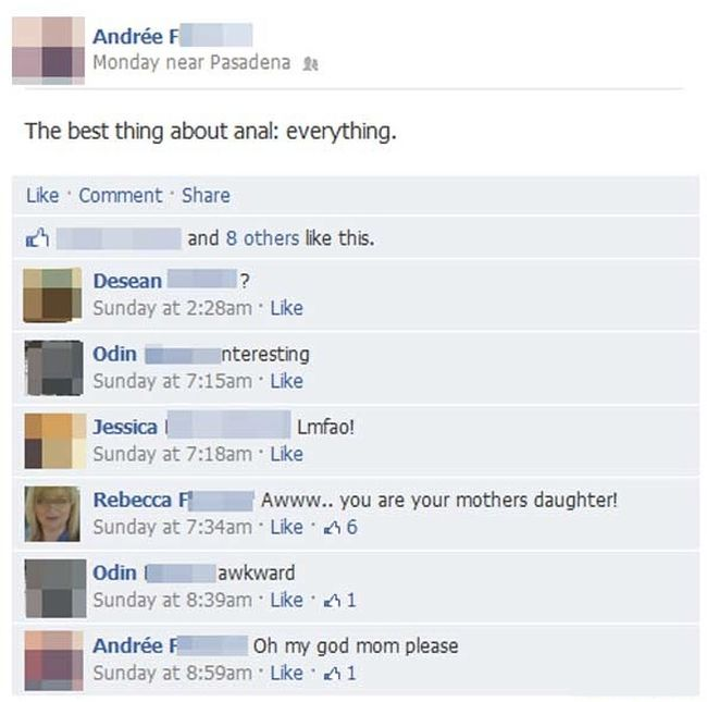 Kids Who Ended Up In Cringeworthy Conversations With Their Moms On Facebook (29 pics)