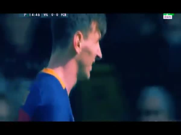 Messi Hits a Woman With A Ball