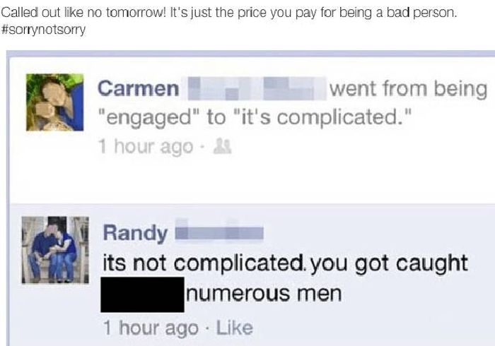 Cheaters Who Got Caught, Called Out And Shamed (12 pics)