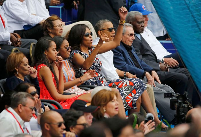 President Obama Attends Historic Baseball Game In Cuba (12 pics)