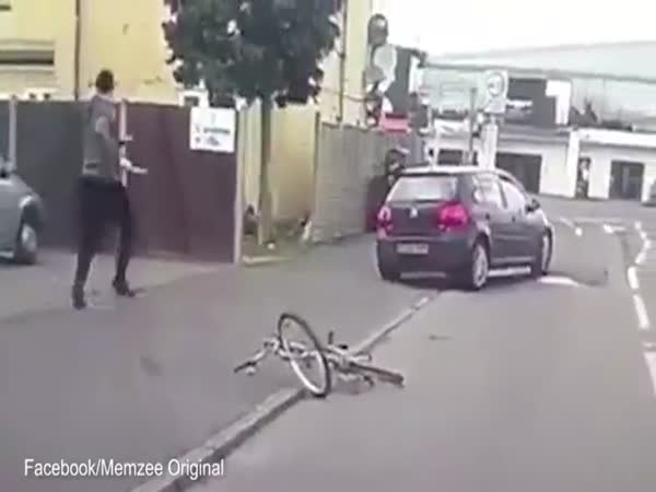 Deliberately Running Down A Cyclist