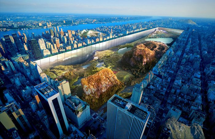 Two Designers Have A Crazy Idea That Would Completely Change Central Park (4 pics)