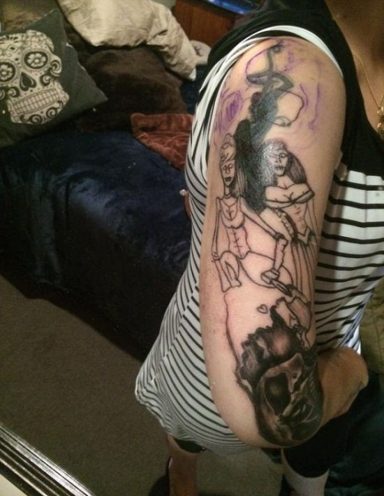 A Woman Went To Get A Fairytale Tattoo But She Ended Up With Something Horrifying (5 pics)