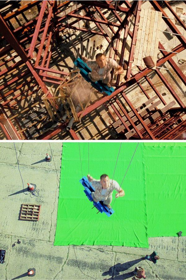 Spectacular Images Reveal The Secrets Behind James Bond's Biggest Stunts (15 pics)