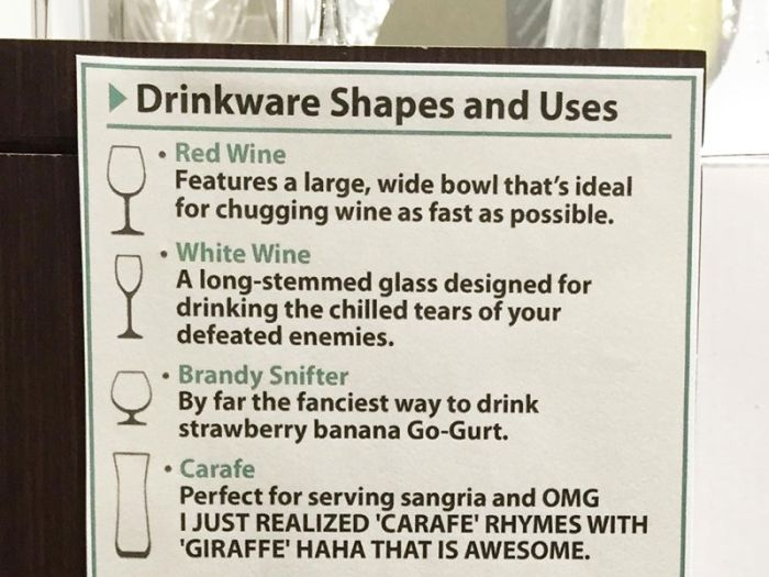 A Visual Guide To The Different Shapes Of Glassware (2 pics)