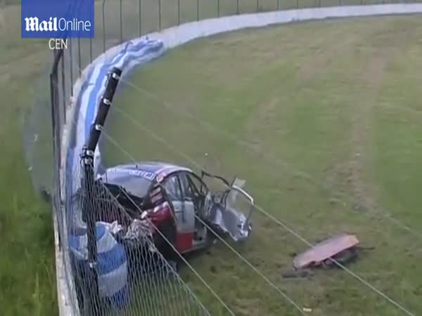 Racing Car Rolls Over Six Times After Driver Loses Control