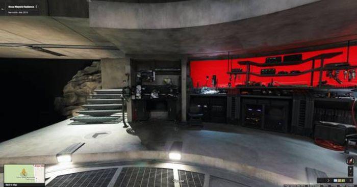 Take A Look Inside Batman's Batcave From Batman V Superman With Google Maps (20 pics)