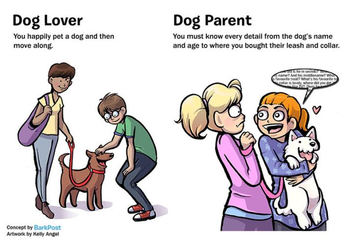 7 Huge Differences That Separate Dog Lovers And Dog Parents (7 pics)