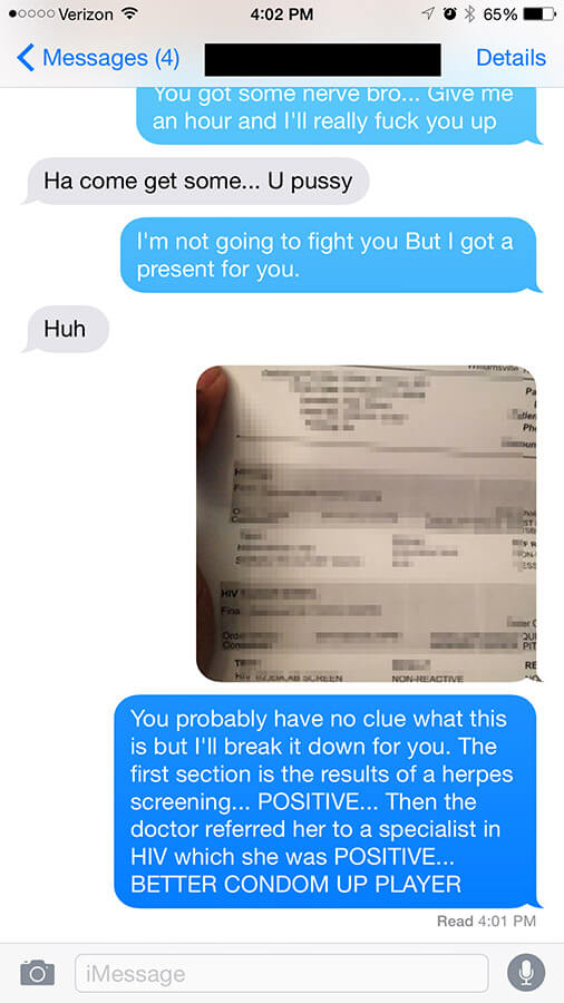Guy Gets Served A Heavy Dose Of Instant Karma After Bragging To His Girl's Ex-Husband (4 pics)