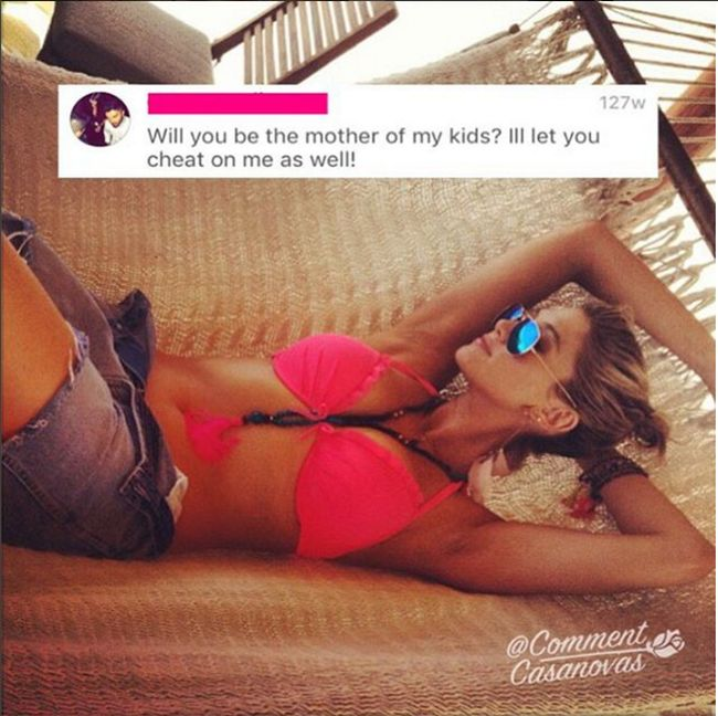 Cringeworthy Comments Left By Desperate Dudes On Model's Instagrams (19 pics)
