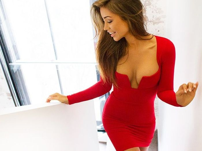 Girls In Skin Tight Dresses Always Know How To Turn Up The Sex Appeal (45 pics)