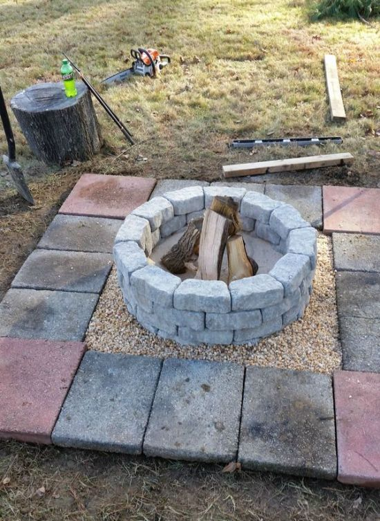 how to build a diy fire pit in your own backyard 10 pics