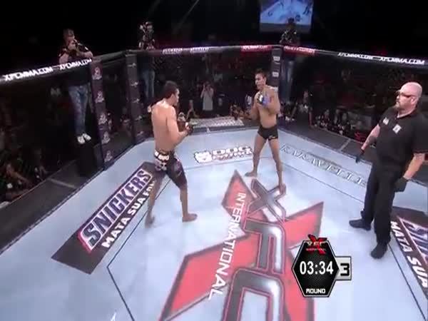 MMA Fighter Rocks Opponent With Incredible Front Kick Knockout