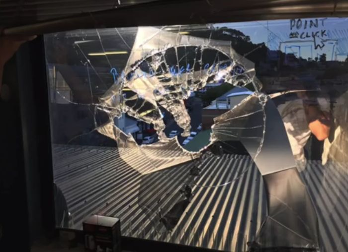 Drone Hits Person In The Head After Smashing Through A 5th Floor Window (3 pics)